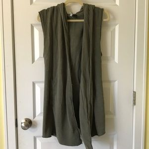 H&M Army Green Hooded Vest